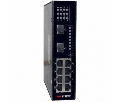 Hikvision NEI-ST258P2X 8 Port Gigabit PoE 2 Port SFP Endüstriyel Switch
